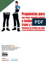 Libretillo «Propuestas para una mejor atención policial a LGTB», Gijón 2018