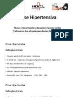 Slides de Crise hipertensiva