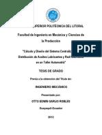2012 Cálculo y Diseño Del Sistema Centralizado de Distribucion de Aceites Lubricantes y Red Neumatica en Un Taller Automotriz