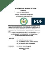 TESIS DE SEGUNDA ESPECIALIDAD EN ENFERMERIA