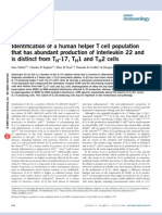 Identification of a human helper T cell population that has abundant production of interleukin 22 and is distinct from TH-17, TH1 and TH2 cells