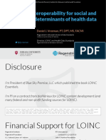 2019 01 07 - Enabling interoperability for social and behavioral determinants of health data