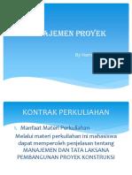 MK Manajemen Proyek Harni