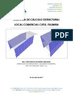 Memoria de Cálculo ESTRUCTURAL- Cutis Palmira - 03-04-2017 REV-01