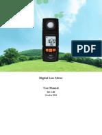 Manual luxometro