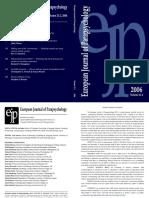 European Journal of Parapsychology v21-2