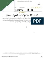 Pero ¿Qué Es El Populismo_ - Edición General - El Salto