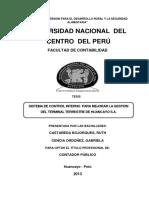 TESIS SISTEMA DE CONTROL EN EL TERMINAL TERRESTE HUANCAYO