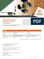Applying Metallurgy Principles