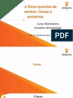 6 -Análise físico-química de alimentos - cinzas e proteinas
