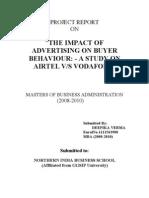 advertising impact airtel & vodafone