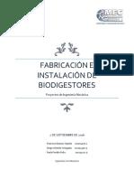 Factibilidad Técnia Instalación Biodigestores
