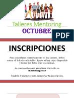 Talleres 2018-2 Octubre