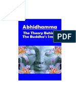 Abhidhamma the Theory Behind Buddha's Smile
