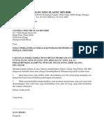 Surat Lantikan Kontraktor Xiang Xing