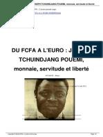 Du Fcfa a l'Euro - Joseph Tchuindjang Pouemi
