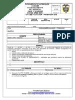 Acta Evaluacion y Promocion