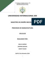 Calculos Material Manufactura