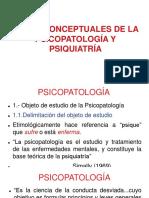 Bases Conceptuales de La Psicopatología y La Psiquiatría