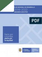 Bases Plan Nacional de Desarrollo 2018-2022 Resumen Ejecutivo