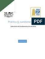 Cuestionario final 4 Laboratorio de fundamentos de mecánica FES Aragón