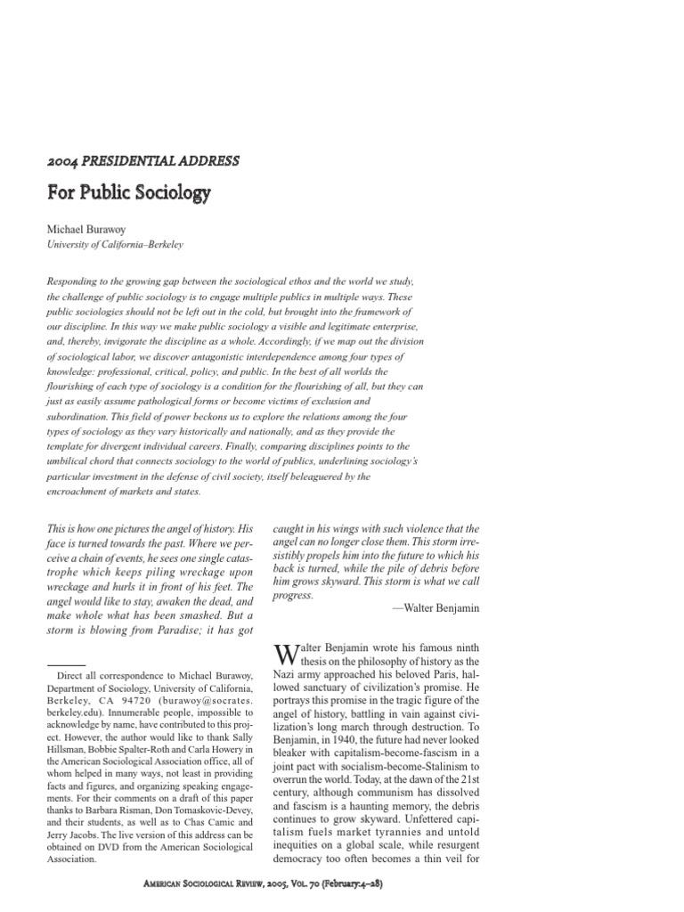 burawoy 11 thesis