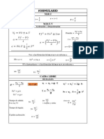 Formulas MRUV