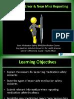 Medication error & near miss reporting