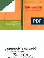 Calandria- Concertacion o Vigilancia
