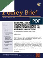 The Organic Law for the Bangsamoro Autonomous Region in Muslim Mindanao