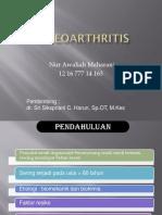 PPT Osteoarthritis