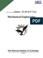 B.tech MDU Syllabus (ME)
