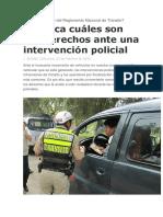 Qué Dice El TUO Del Reglamento Nacional de Tránsito
