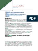 El Sistema Internacional de Unidades