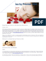 Dead Sea by Premier USA Monthly Newsletter October 2010 2