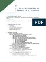 Ley de Ordenacion Sanitaria Cam Ley-212012-Mad-print