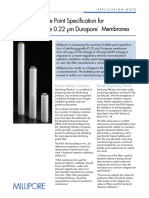 Minimum Bubble Point Specification for Sterilizing-Grade 0.22 μm Durapore® Membranes