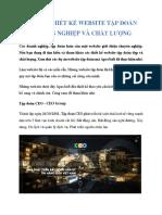 Những Thiết Kế Website Tập Đoàn Chuyên Nghiệp Và Chất Lượng