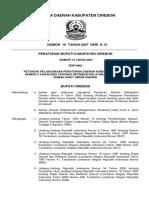 Perbup Nomor 14 Tahun 2007 Petunjuk Pelaksanaan Peraturan Daerah Kabupaten Cirebon