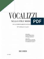 Vocalizzi Nello Stile Moderno per voce grave