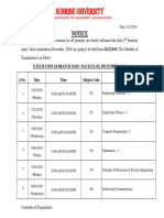Main Exam Schedule 2018-19