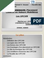 Les OPCVM Et Leur Fiscalité