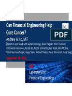 Lo Can Financial Engineering Cure Cancer