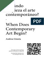 ¿cuando commienza el arte contemporaneo?