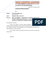 Carta Nº 009 Ampliación de Plazo Nº 02 Por Lluvias