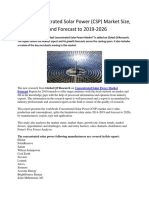 Global Concentrated Solar Power Market