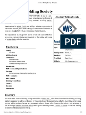 American Welding Society Welding Construction