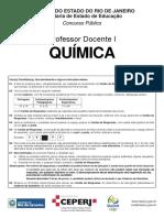 Prova de Quimica SEEDUC 2013