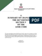 2017 v Changes