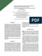 30915 ID Pengembangan Dadih Sebagai Pangan Fungsional Probiotik Asli Sumatera Barat